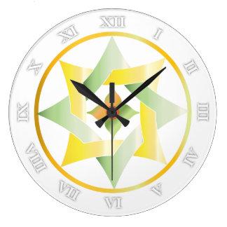 Estrellas en círculos que hacen juego el sistema - reloj redondo grande