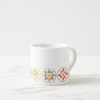 Estrellas en círculos que hacen juego el sistema - tazitas espresso