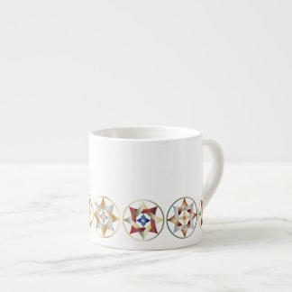 Estrellas en círculos que hacen juego el sistema - tazas espresso