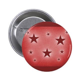Estrellas en el botón del cielo nocturno, rojo osc pin