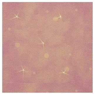 Estrellas en el melocotón y el fondo rosado telas