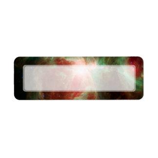 Estrellas en espacio de la nebulosa de Orión Etiqueta De Remite