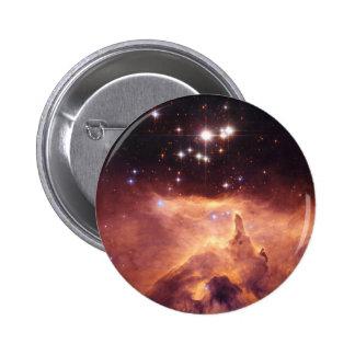 Estrellas en espacio profundo pin redondo de 2 pulgadas