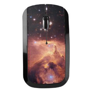 Estrellas en espacio profundo ratón inalámbrico