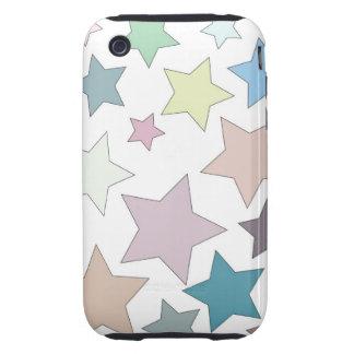Estrellas en estrellas silenciadas de los colores carcasa resistente para iPhone