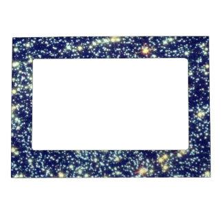 Estrellas en imán del marco de la foto del espacio marcos magneticos de fotos