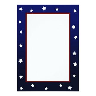 Estrellas en la invitación azul de la frontera