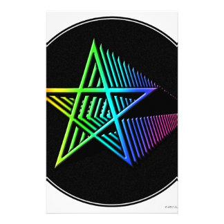 Estrellas en las estrellas papelería personalizada