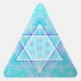 Estrellas en las estrellas pegatina triangular