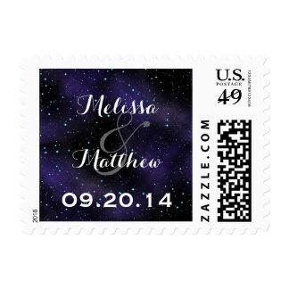 Estrellas en los sellos redondos del boda del ciel