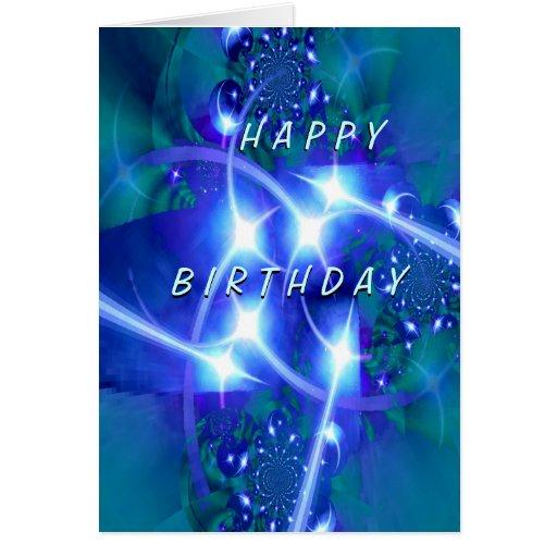 Estrellas en sus ojos BirthdayCard feliz Tarjeta De Felicitación