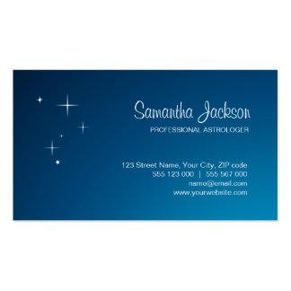Estrellas en tarjeta de visita azul