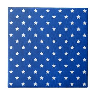 Estrellas en textura de la tela tejas  cerámicas