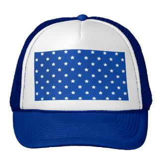Estrellas en textura de la tela gorra
