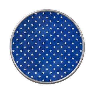 Estrellas en textura de la tela jarrones de dulces