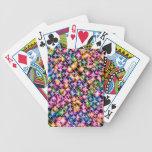 Estrellas enrrolladas, coloridas cartas de juego