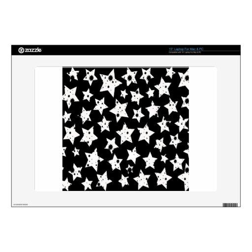 Estrellas estrelladas del negro abstracto de la fa calcomanía para 38,1cm portátil