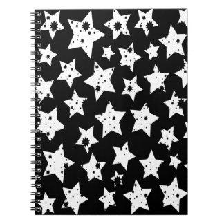 Estrellas estrelladas del negro abstracto de la fa cuadernos
