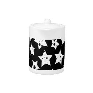 Estrellas estrelladas del negro abstracto de la fa
