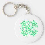 Estrellas estupendas (verde) llaveros personalizados