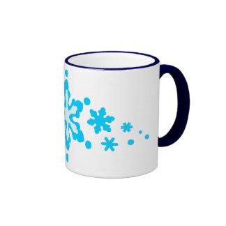 estrellas fantasy2 de los copos de nieve taza de café