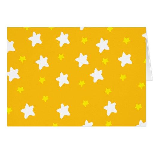 Estrellas felices anaranjadas felicitacion