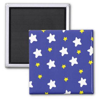 Estrellas felices azules imanes