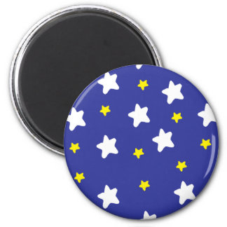 Estrellas felices azules iman para frigorífico