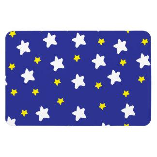 Estrellas felices azules imanes de vinilo