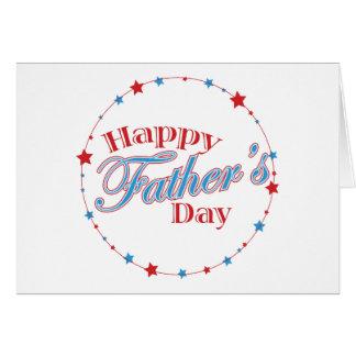 Estrellas felices del día de padre felicitación