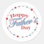 Estrellas felices del día de padre etiquetas redondas