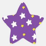 Estrellas felices púrpuras colcomanias forma de estrellaes personalizadas