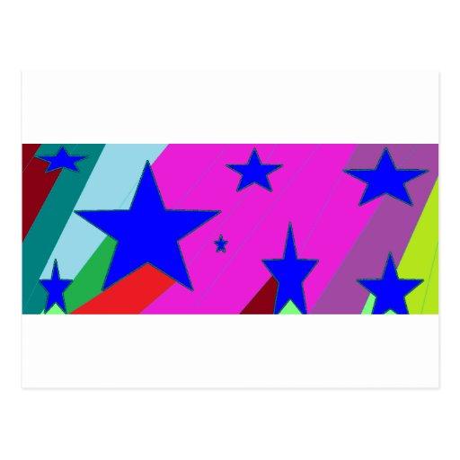 Estrellas femeninas del chica tarjeta postal
