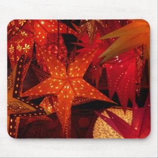 Estrellas festivas del navidad alfombrilla de raton