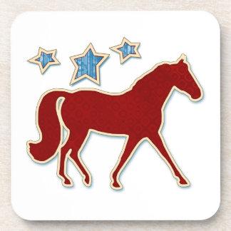 Estrellas festivas del trotón del Fox de Missouri Posavasos