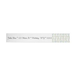 Estrellas florales de Swirly Etiquetas Envolventes De Dirección