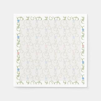 Estrellas florales de Swirly Servilleta De Papel