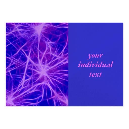 Estrellas, fractal, azul tarjeta personal