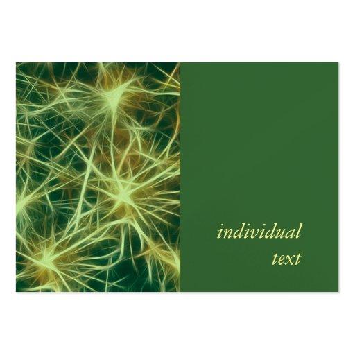 Estrellas, fractal, verde tarjeta de visita