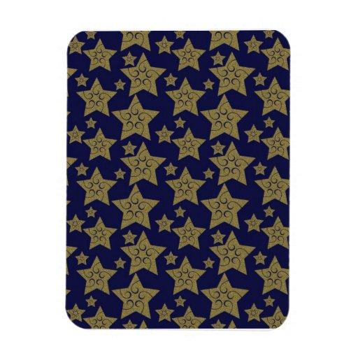 Estrellas frescas del día de fiesta del navidad imán rectangular