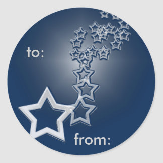 estrellas fugaces, a: , de: pegatina redonda