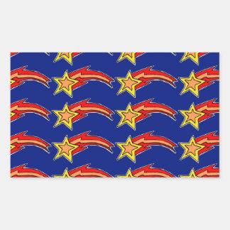 estrellas fugaces pegatina rectangular