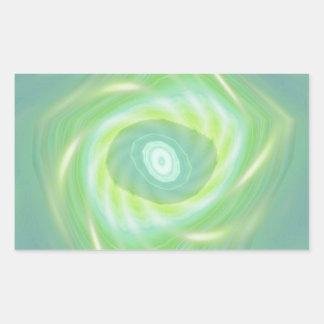 Estrellas fugaces y cometas verdes pegatina rectangular