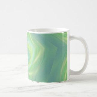 Estrellas fugaces y cometas verdes taza de café