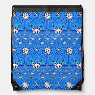 estrellas geométricas del seis-punto en la mochila