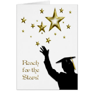 Estrellas graduadas del varón tarjeta de felicitación