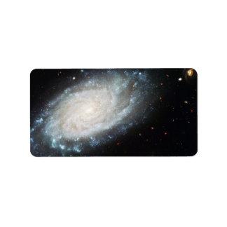 Estrellas grandes de la impresión de la galaxia de etiquetas de dirección