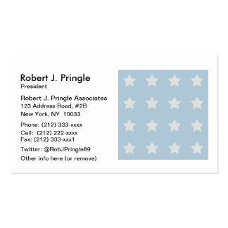 Estrellas grandes del blanco en fondo de los tarjetas de visita