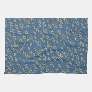 Estrellas incompletas toalla de mano