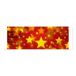 Estrellas inconsútiles del navidad tarjetas de visita mini
